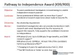 pathway to independence award k99 r00