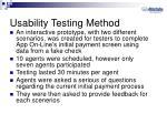 usability testing method