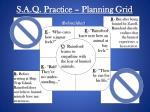 s a q practice planning grid