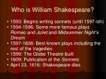 who is william shakespeare2