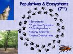 populations ecosystems 7 th