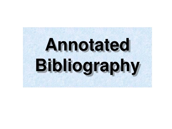 annotated bibliography n.