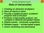 role of universities