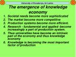 the emergence of knowledge economy