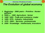 the evolution of global economy