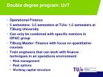 double degree program uvt
