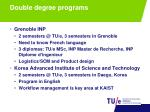 double degree programs