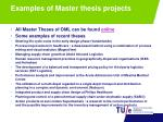 examples of master thesis projects