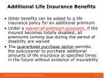additional life insurance benefits
