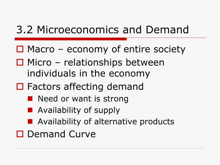 3.2 Microeconomics and Demand