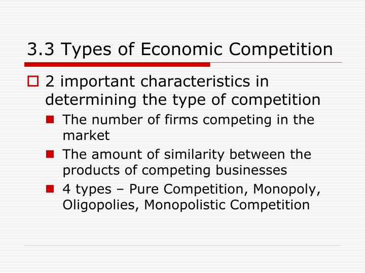 3.3 Types of Economic Competition