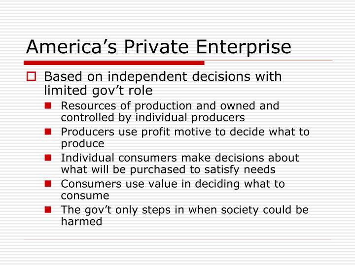 America's Private Enterprise