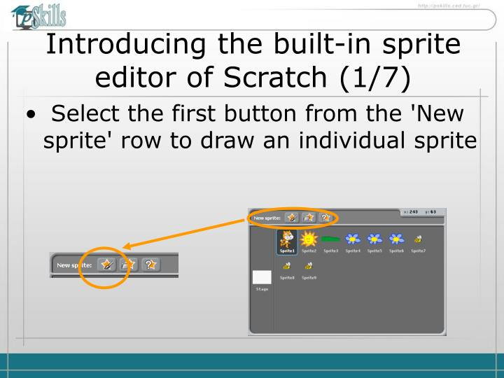 PPT - Introducing the built-in sprite editor of Scratch ( 1