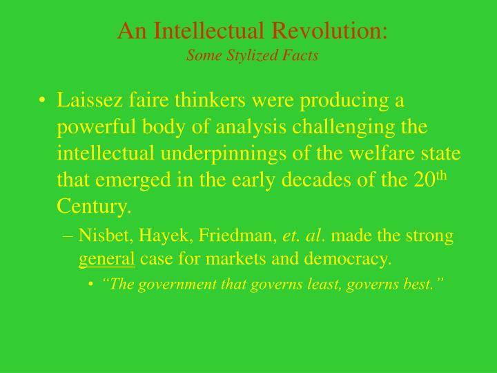 An Intellectual Revolution: