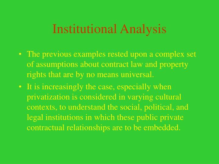 Institutional Analysis