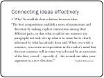 connecting ideas effectively