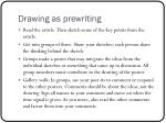 drawing as prewriting