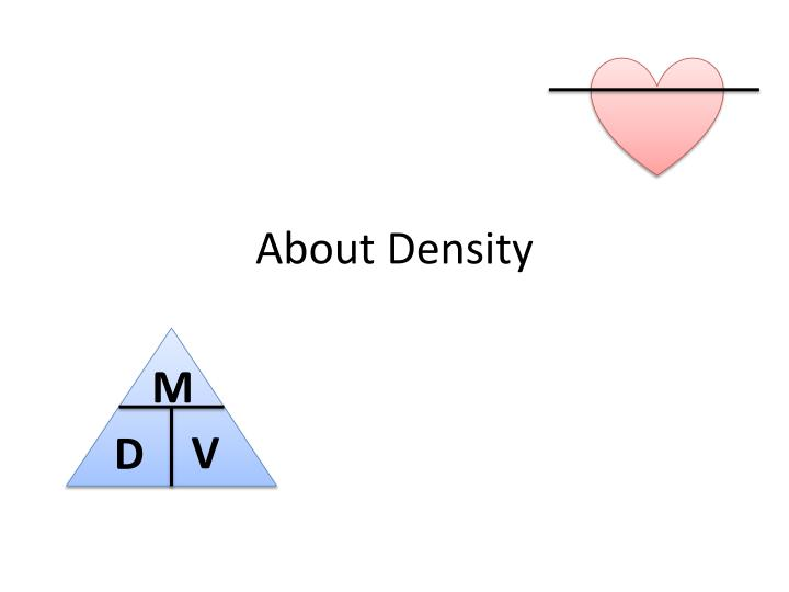 about density n.