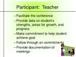 participant teacher