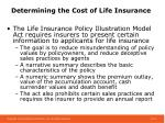 determining the cost of life insurance4