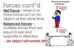 forces cont d