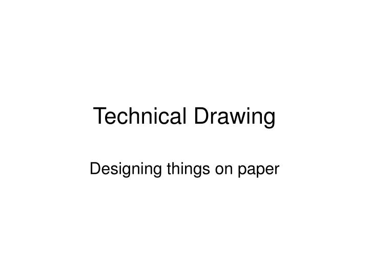 technical drawing n.
