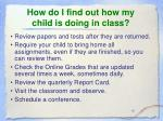 how do i find out how my child is doing in class