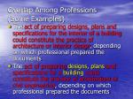 overlap among professions some examples1
