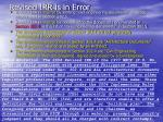 revised irr is in error