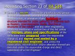 revisiting section 23 of ra 544