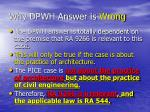 why dpwh answer is wrong4