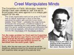 creel manipulates minds