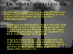 the nation s factories go to war