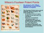 wilson s fourteen potent points