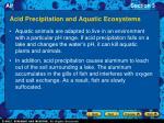 acid precipitation and aquatic ecosystems