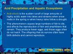 acid precipitation and aquatic ecosystems1