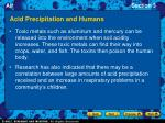 acid precipitation and humans