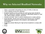 why we selected bradford networks