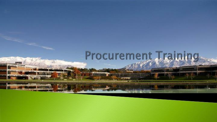 procurement training n.