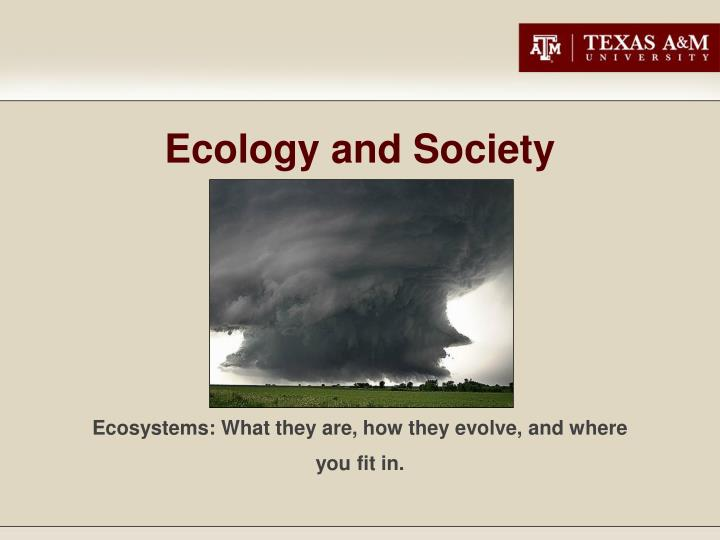 ecology and society n.