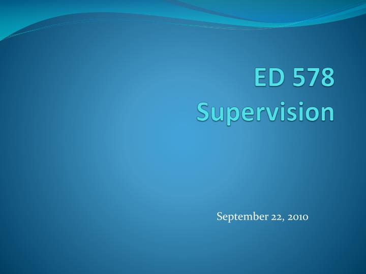 ed 578 supervision n.
