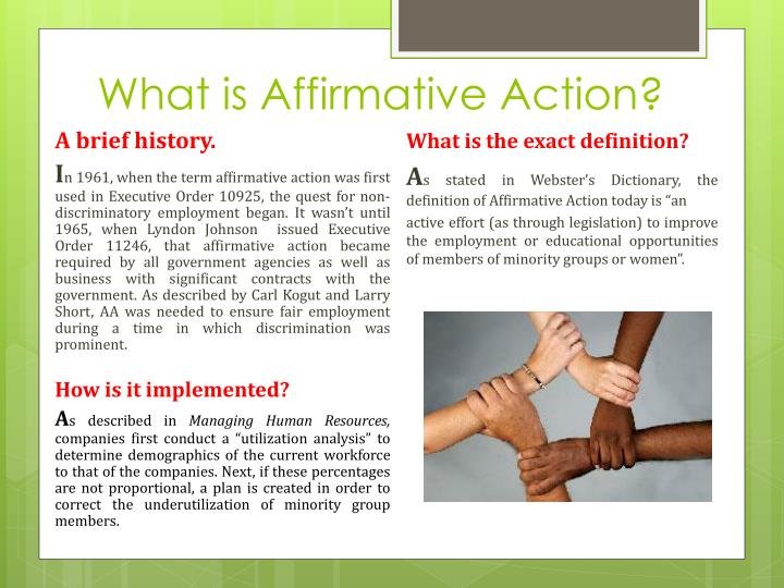 What is affirmative action