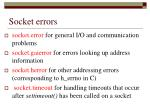 socket errors