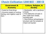 chavin civilization 1200 bce 200 ce