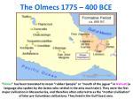 the olmecs 1775 400 bce
