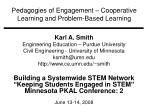pedagogies of engagement cooperative learning and problem based learning