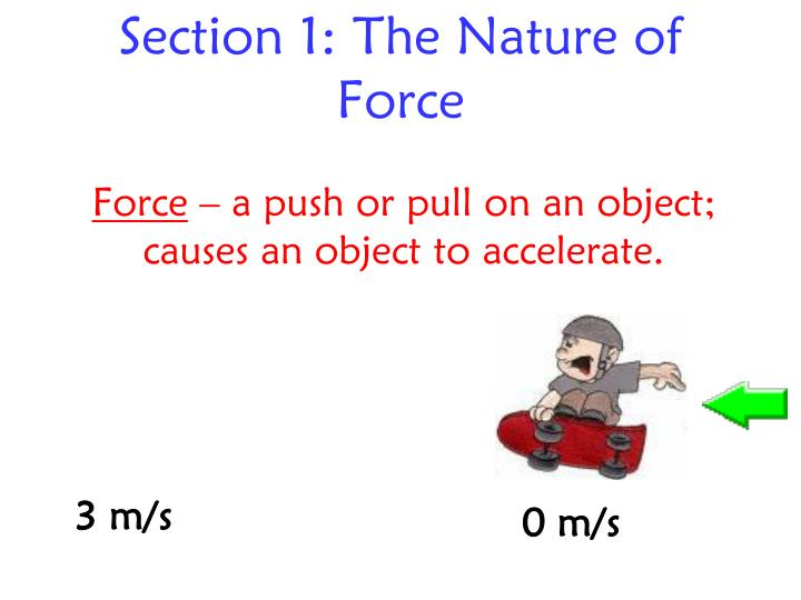 section 1 the nature of force n.