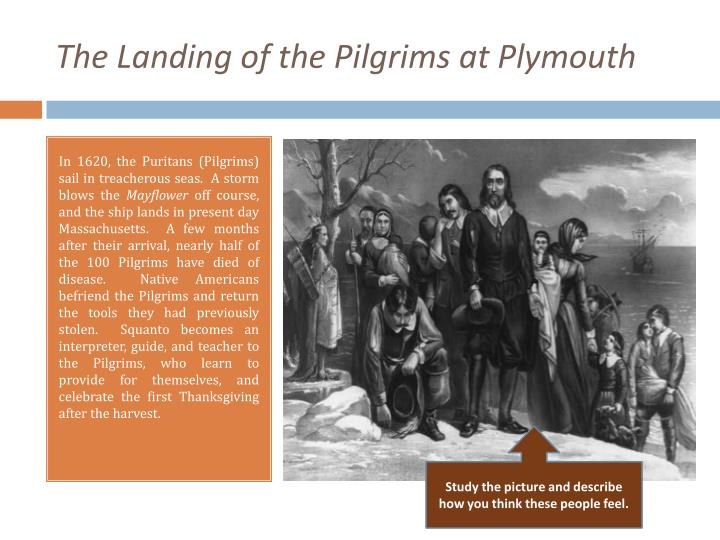 The landing of the pilgrims at plymouth