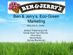 ben jerry s eco green marketing