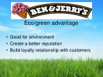 eco green advantage